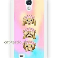 case,cover fits samsung models>Tie Dye,monkey, Emoji,emojis,bright,smiley,flower