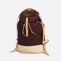 Vintage  Canvas Backpack Satchel Hiking Bag (L08)