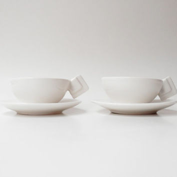 Porcelain Espresso Cup and Saucer Set, Coffee Cup Set
