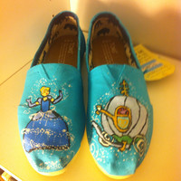 Cinderella Inspired Shoes Custom Toms Vans Canvas Cute Disney