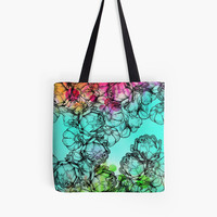 'In my garden of colours' Tote Bag by MadeByLen