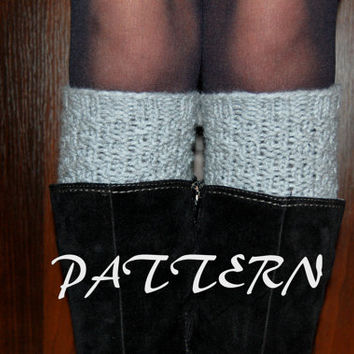 KNITTING PATTERN - Women' Hand  Knit Boot Cuffs Pattern