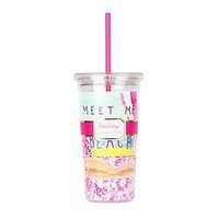 Tumbler with Straw in Meet Me At The Beach by Lilly Pulitzer - FINAL SALE