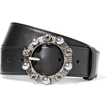 Miu Miu - Embellished leather belt