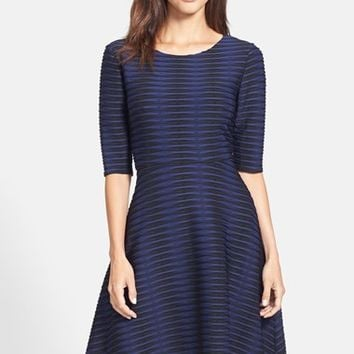 Donna Morgan Jacquard Knit Fit & Flare