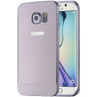 Plating Aluminum Mirror Capa For Samsung Galaxy S7 Edge Ultra Glitter Hybrid Hard Back Case +LOGO For Galaxy S7 Edge Phone Cover