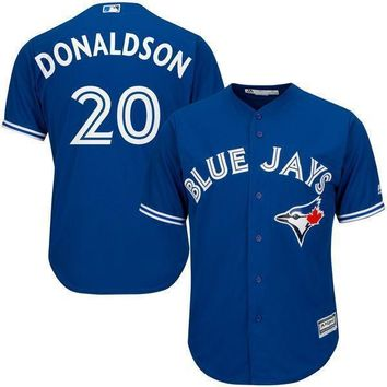 Men's Toronto Blue Jays Josh Donaldson Majestic Royal Alternate Big & Tall Cool Base Player Jersey