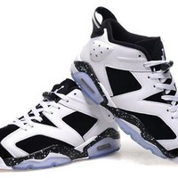 Cheap Air Jordan 6 Low Men Shoes White Black Blue