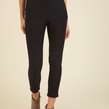 A Chic Start Pants in Black | Mod Retro Vintage Jackets | ModCloth.com