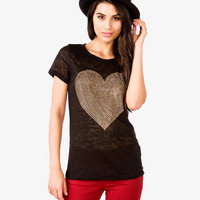 Metallic Heart Tee