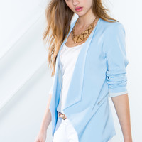 Noelle Zipper Trim Blazer