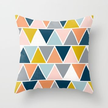 Triangulum Retreat Throw Pillow by Heather Dutton
