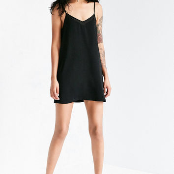 Silence + Noise Sheer Inset Mini Slip Dress | Urban Outfitters