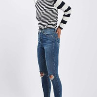 Topshop Moto Jamie Ripped High Rise Ankle Skinny Jeans | Nordstrom