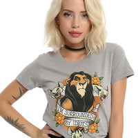 Disney The Lion King Scar Surrounded By Idiots Girls T-Shirt