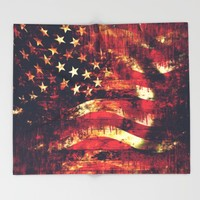 Old Glory Throw Blanket by Timothy Davis