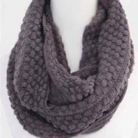 Traveled Road Knitted Infinity Scarf in Dark Grey | Sincerely Sweet Boutique