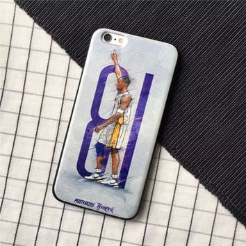 Kobe Bryant 81POINT Memorial Phone Case For IPHONE 6 6PLUS TPU+PC Frosted Printed Phone Bag Funda For iPHONE 6 smart phone case