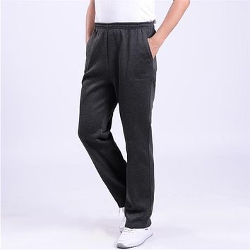 Mens Joggers Casual Pants Men Solid Baggy Loose Elastic SweatPants Long Fleece Warm Winter Pants Trousers male Pantalones Hombre