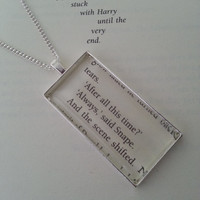 Harry Potter Always Book Page Necklace