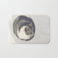 Fat Cat Bath Mat by anipani