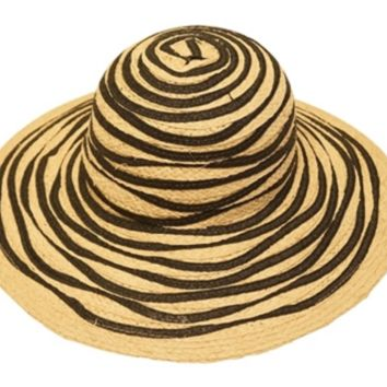 Ocean Waves, Raffia Wavy Sun Hat