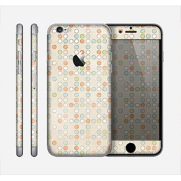 The Vintage Tiny Polka Dot Pattern Skin for the Apple iPhone 6