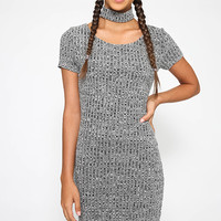 Ally Cat Dress - Charcoal