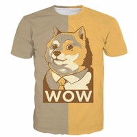 Cute Such WOW Doge t shirts Men Women Summer Funny Gentleman Shiba Inu 3D t shirt Streetwear Hippie Tees Casual Tee Shirts