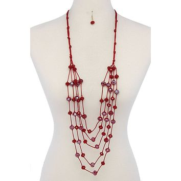 Beaded multi layered necklace Womens fashion jewelry