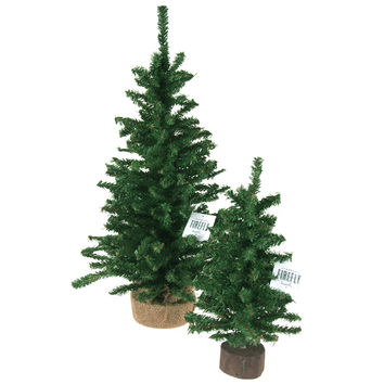 Mini Christmas Tree Artificial Pine Trees, Green, 12-Inch, 24-Inch