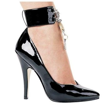 Ellie Shoes E-511-Dominique 5 Heel Pump With Lock And Key