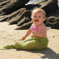 Mermaid Tail Newborn Photo Prop or Costume