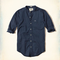 Guys Stretch Banded Collar Oxford Shirt | Guys New Arrivals | HollisterCo.com