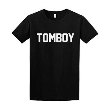 Tombot Shirt - Feminist T-Shirt - Soft Ringspiun 100% Cotton Shirt | Available Sizes S | M | XL | Black, Grey & White Shirt