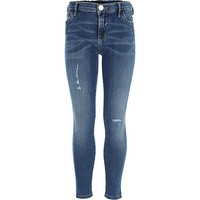 River Island Girls mid wash skinny jeans