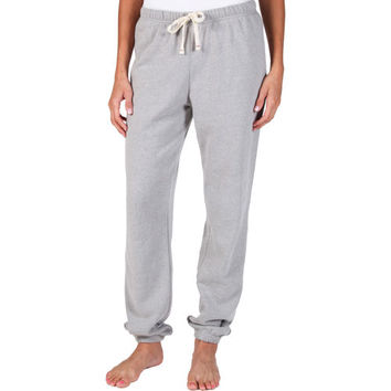 Abbot + Main Ladies' Fleece Pant-Heather Gray