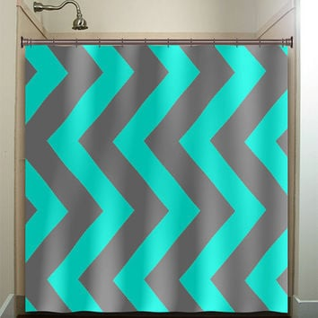 Shop Gray Chevron Shower Curtain on Wanelo