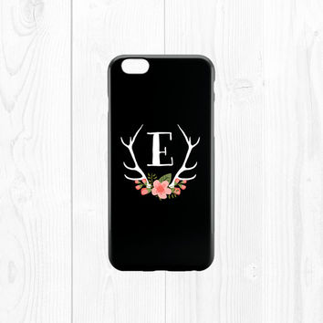 iPhone 6 Case Monogram iPhone 6 Case Monogrammed Gifts Floral iPhone 6 Case Floral Phone Case Monogram Phone Case Deer iPhone 5c Case