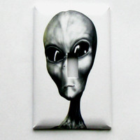Light Switch Cover - Light Switch Plate Alien UFO