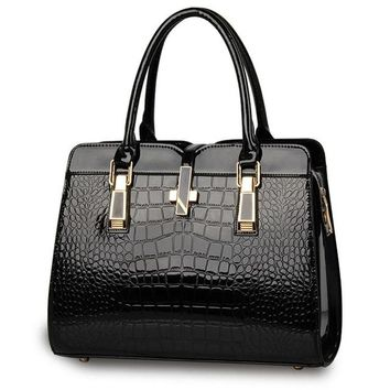 Femme Luxury Faux Alligator Bag