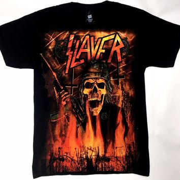 Slayer WEHRMACHT BURNING T-Shirt NWT 100% Authentic S-4XL Front & Back Design