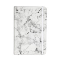 "Kess Original ""White Marble"" Gray White Everything Notebook"