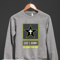 God's Army (Crew Neck Sweatshirt)-Unisex Heather Grey Sweatshirt