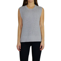Asymetrical Knit Sweater Tank Top