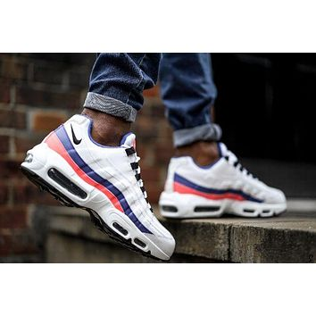 Nike air max 95 essential white blue Air cushion sports shoes
