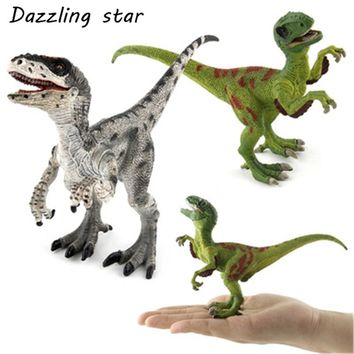 Jurassic Velociraptor Dragon Dinosaur Toys Plastic Dinosaur Toys Anime Cartoon Collection simulation Model Action Figures Gift