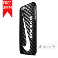 Logo Nike Just Do It Carbon  FDL iPhone 6 Case