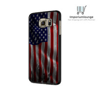 US Flag Wood For Samsung Galaxy S6| S6 Edge Case