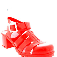 Red Jelly Heels